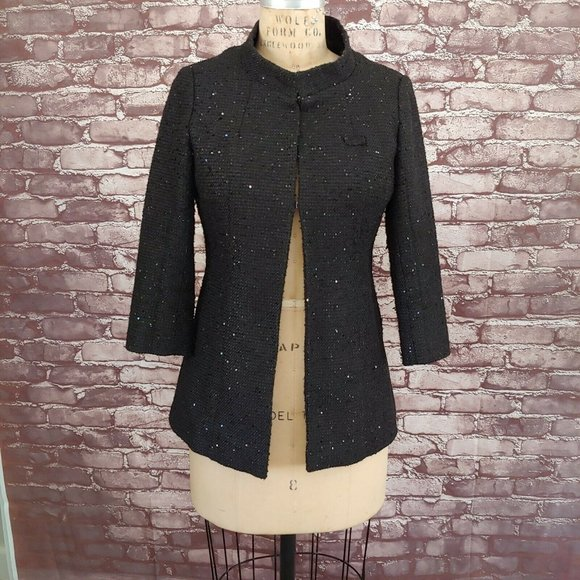 ❤️SOLD❤️CHANEL Tweed Sequin Jacket Blazer Employee